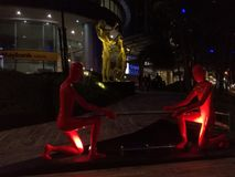 雕塑在吉隆坡 免版税图库摄影