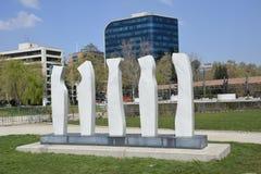 雕塑在圣地亚哥,辣椒 免版税库存照片