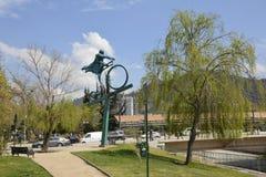 雕塑在圣地亚哥,辣椒 免版税库存图片