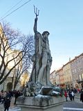 雕塑在城市 免版税库存图片