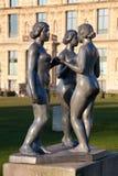 雕塑在天窗博物馆,巴黎 图库摄影