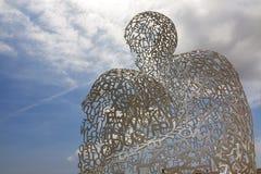 雕塑在安地比斯Jaume Plensa 图库摄影