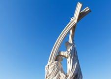 雕塑在宽容大教堂` s庭院里,埃斯泰尔戈姆,匈牙利 库存照片
