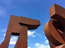 雕塑在波特兰 库存图片