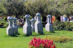 雕塑在阿塔图尔克阿拉尼亚,土耳其100th周年的公园  库存照片