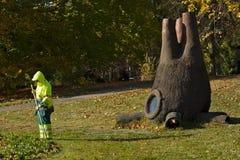 雕塑在阿里纳公园日内瓦,瑞士 库存图片