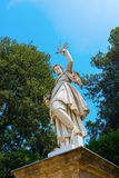 雕塑在Boboli庭院里在佛罗伦萨,托斯卡纳,意大利 免版税库存图片
