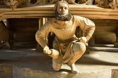 雕塑在Lorenzkirche在纽伦堡 免版税库存图片