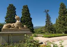 雕塑在Massandra宫殿公园在克里米亚 库存图片