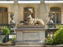 雕塑在Massandra ` s宫殿公园在克里米亚 库存照片
