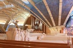 雕塑在Padre Pio朝圣教会,意大利里 库存照片