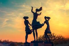雕塑在Sventoji 库存照片