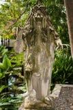 雕塑在Tirta Gangga公园, Karangasem,巴厘岛,印度尼西亚 免版税库存照片