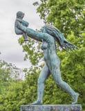 雕塑在Vigeland公园奥斯陆 挪威 免版税图库摄影