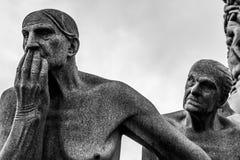 雕塑在Vigeland公园,奥斯陆 免版税库存图片