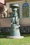 雕塑在Zsolnay中心在佩奇 库存照片