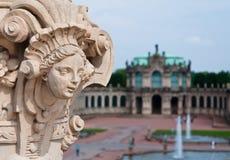 雕塑在Zwinger博物馆,德累斯顿 库存照片