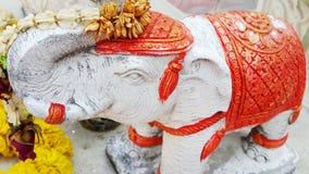 雕塑大象 免版税库存照片