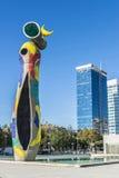 雕塑夫人我Ocell,巴塞罗那 库存照片