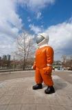 雕塑宇航员  库存照片