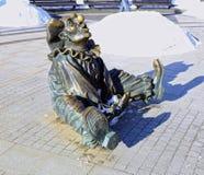 雕塑小丑 免版税库存图片