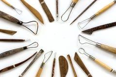 雕塑工具 库存照片