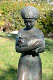 雕塑庭院 库存图片