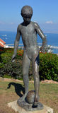 雕塑庭院 免版税库存图片