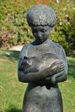 雕塑庭院 库存照片