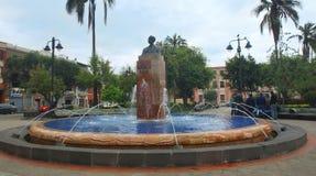 雕塑曼纽尔位于圣布拉斯公园的Calle 库存照片