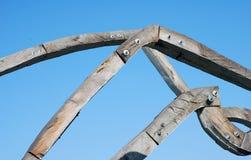 雕塑木头 库存照片