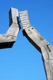 雕塑木头 库存图片