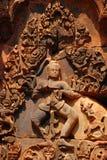 雕塑沙子石头, Siem Reap,柬埔寨 免版税库存图片