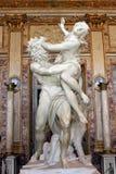雕塑济安・贝尼尼, Proserpine强奸,圆顶场所Borghese,罗马,意大利 免版税库存图片
