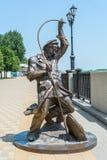 雕塑渔夫 免版税库存照片