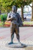 雕塑游人 库存照片