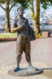 雕塑游人Gelendzhik 库存图片