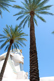 雕塑狮身人面象 库存图片