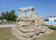 雕塑猎豹 库存照片