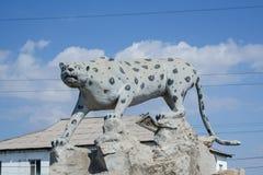 雕塑猎豹 库存图片