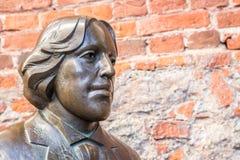 雕塑王尔德 库存图片
