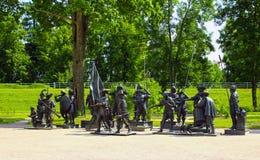 雕塑由伦布兰特绘画的A. Taratynov 库存图片