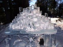 雕塑由冰-高Tatras -斯洛伐克制成 免版税库存照片