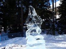 雕塑由冰-高Tatras -斯洛伐克制成 库存图片