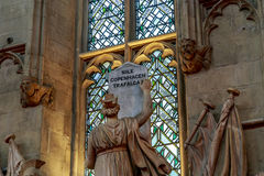雕塑的片段在市政厅,伦敦的大厅的 免版税库存照片