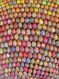 雕塑的片段3000绘了复活节彩蛋,基辅, 库存照片