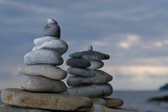 雕塑石头 免版税库存照片