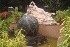 雕塑艺术在Shri Devi Annapoorneshwari Kshetra, Moodbidri 免版税库存照片