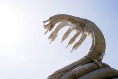 雕塑蛇 免版税库存照片