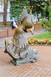 雕塑金鱼 Gelendzhik 库存图片